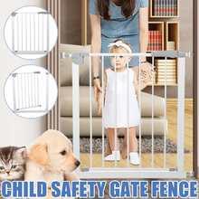 75x85x5cm Pet Dog Baby Fence Gate Safe Guard Safety Enclosure Dog Fences Dog Gate The Ingeniou Pet Gate Pet Supplies Safety Door