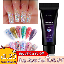 Gel-Nail-Polish Form-Tips Builder-Gel Nail-Extension Glitter Acrylic Poly French 15ml