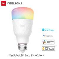 Xiaomi-bombilla LED inteligente Yeelight Versión de Actualización, E27, 1SE /1S, WIFI, para lámpara de escritorio y dormitorio a través de la aplicación de Control remoto, color blanco/RGB