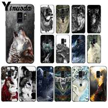 Yinuoda Fierce Snow Wolf TPU black Phone Case Shell for Samsung GALAXY S5 6 7 EDGE PLUS 8 9 PLUS Coque Shell(China)