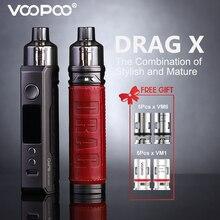 VOOPOO DRAG X Pod Mod 80W Vape 4.5ml PnP Pod Tank MTL 0.15ohm 0.3ohm Coils Vaper No 18650 Battery Vaporizer Electronic Cigarette