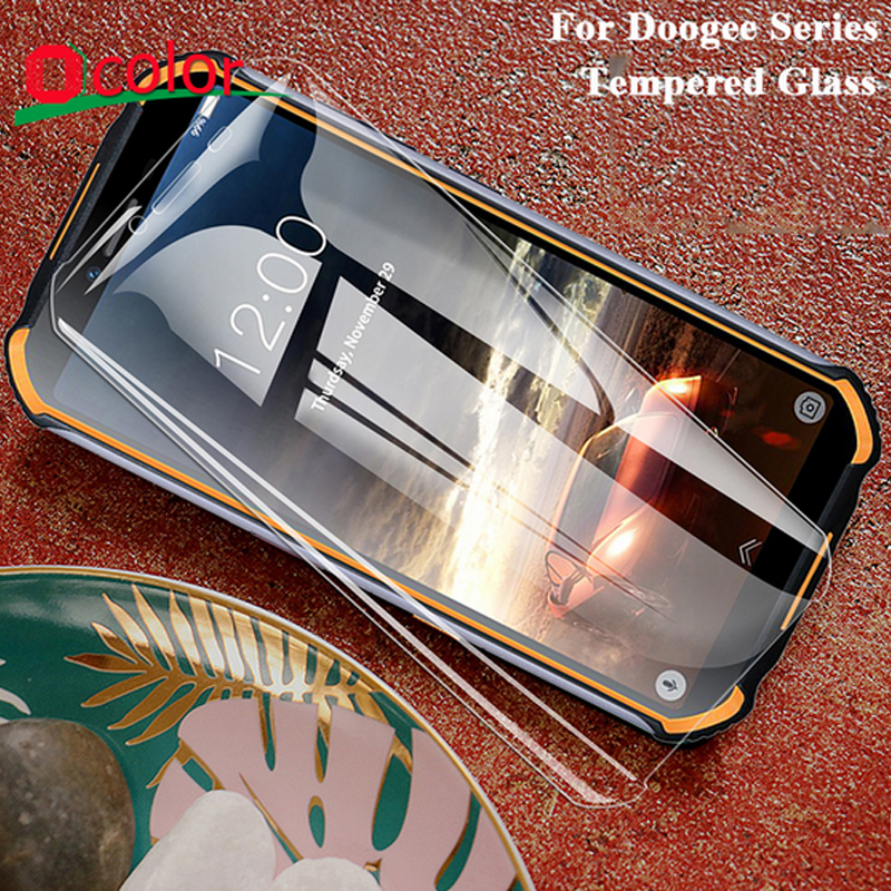 ocolor For Doogee S40 S90 N20 S95 Pro Tempered Glass Screen Protector For Doogee N10 Y8 X90 X90L Protective Film(China)