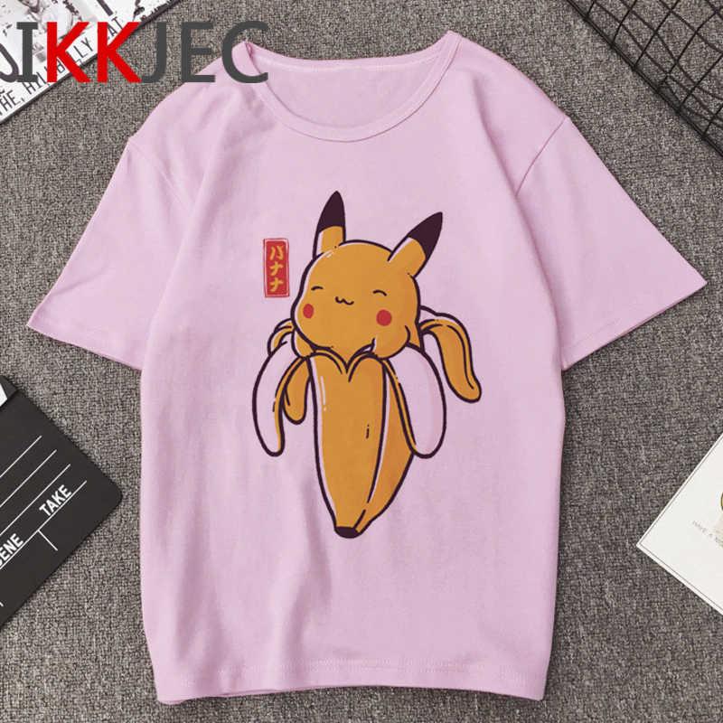 Pikachu Hoạt Hình Ngộ Nghĩnh Áo Nam Pokemon Go Bông Tai Kẹp Áo Thun Thời Trang Anime In 90 Hip Hop Dạo Phố Hàng Đầu tee Nam