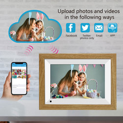 10.1inch WIFI Family Sharing Alarm Clock Music Digital Photo Frame 1080P Gift Touch Screen Video Picture HD Display Auto Rotate