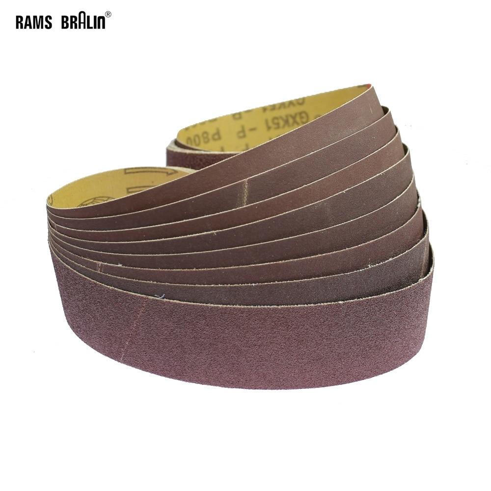 10 Pieces 915*50mm Abrasive Sanding Belts For Wood Soft Metal Grinding Polishing