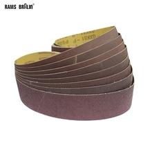 Bandas de lijado abrasivas para pulir madera y Metal blando, 915x50mm, 10 unidades