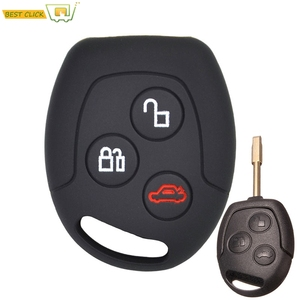 Silicone Key Case Cover For Ford Focus KA Galaxy Mondeo Transit Connect Cougar Puma Fushion Keyless Fob Shell(China)