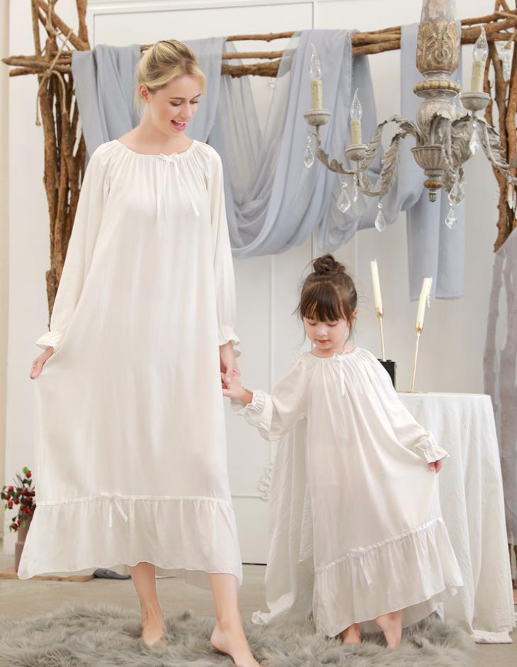 Mother Kids Pajamas For Girls Nightgowns Lace Mother Daughter Dresses Mother And Daughter Clothes Baby Girls Pajamas Christmas