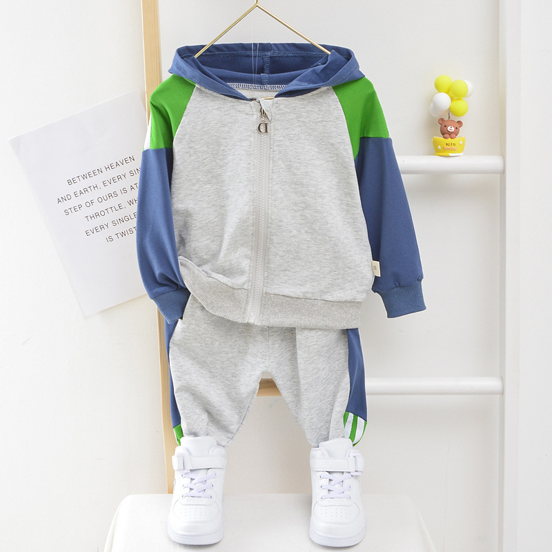 Baby Boy Girl Hooded Clothes High Quality Cotton Toddler Sport Suit Boy Infant Long Sleeve 1-5 Years Spring Autumn Tracksuit