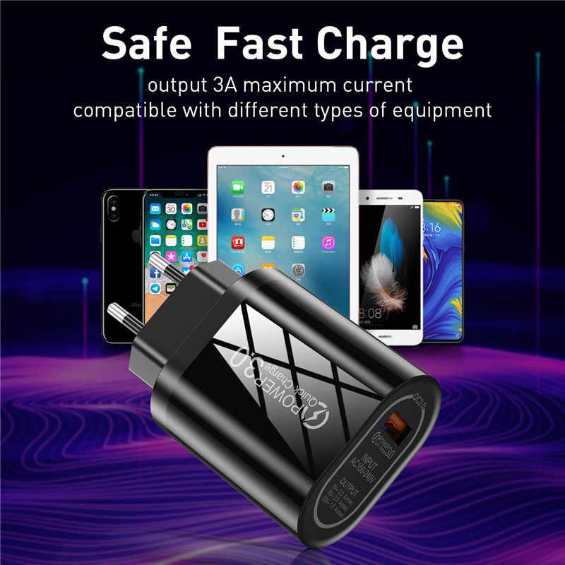 3A Pengisian Cepat 3.0 4.0 USB Charger untuk iPhone X QC3.0 Uni Eropa US Dinding Charger Adaptor Pengisian Cepat untuk samsung Xiaomi Tablet