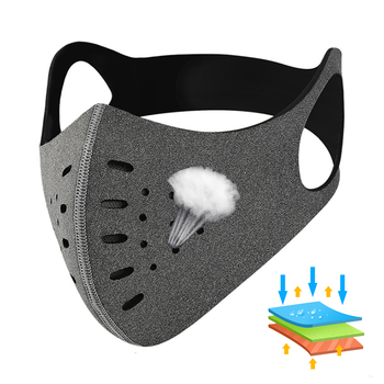 Bike Half Face Mask Anti-fog Sports Mask with Filter Outdoor PM2.5 Anti-pollution Competition Training Road Bike Riding Mask