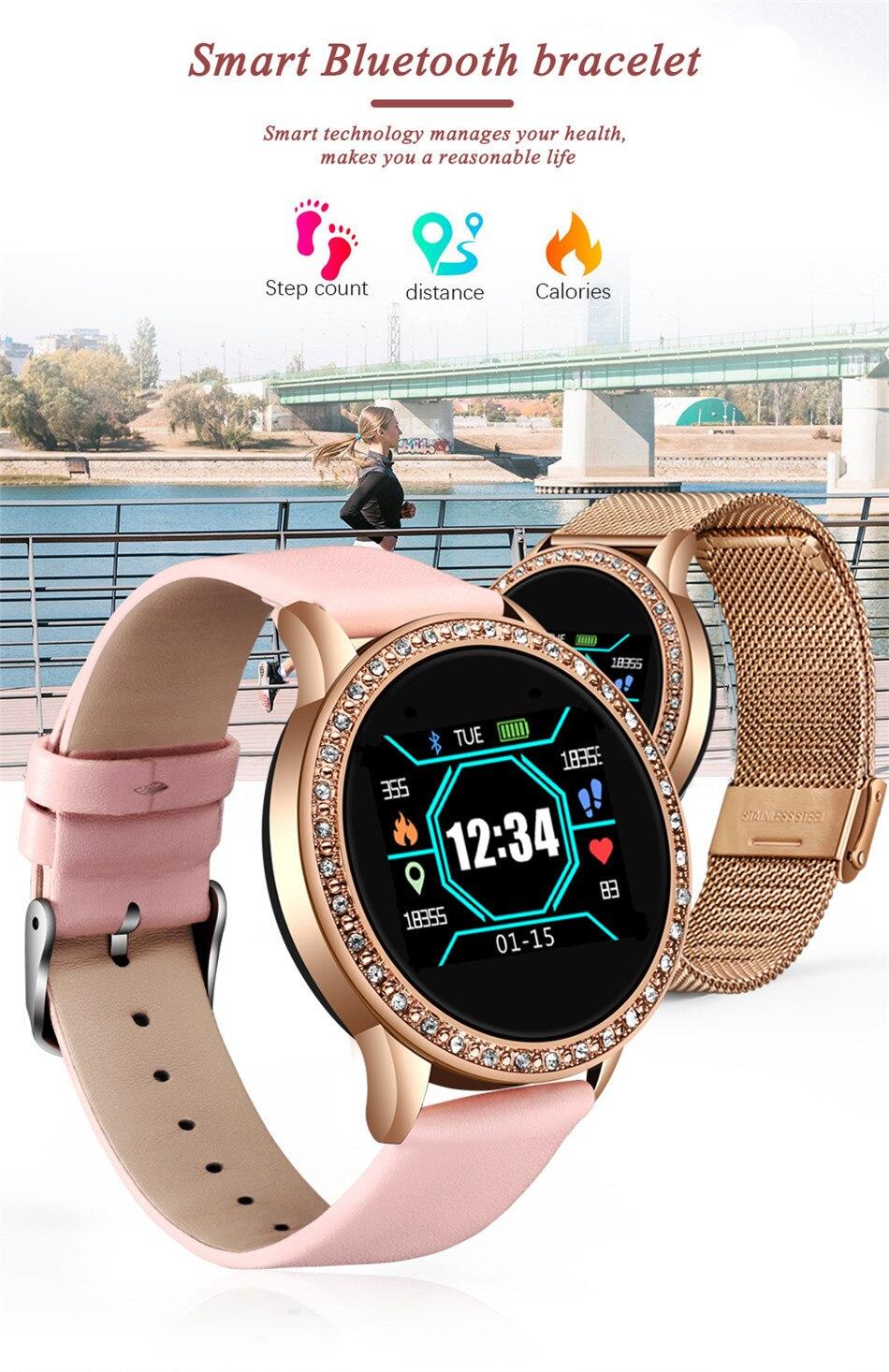 Hf7c1a4815b05414abfbcf9369bf18fc5K LIGE 2020 New Smart Watch Women Men Heart Rate Blood Pressure Sport Multi-function Watch fitness tracker Fashion smartwatch+Box