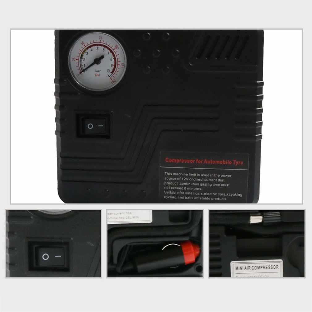 مضخة صغيرة كهربائية تيار مستمر 12 فولت ضاغط هواء للسيارة 120 PSI ضاغط الهواء منفاخ لإطارات السيارة نفخ مضخة للدراجات النارية