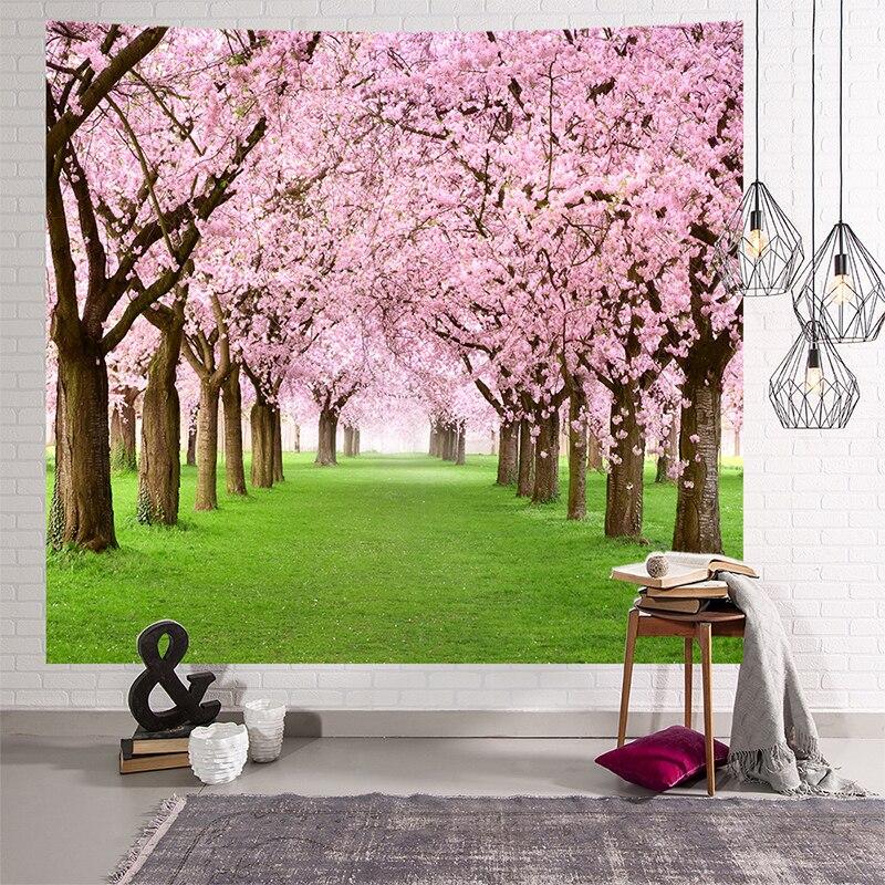 Image 3 - Mandala gobelin indyjski ściany wiszące romantyczne kwiaty wiśni mglisty góra czeski mata do jogi domu artystyczna do sypialni dywan w Gobeliny od Dom i ogród na