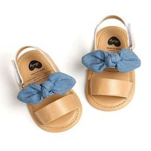 Fashion Newborn Infant Baby Girls Princess Shoes Bowknot Toddler Summer Sandals PU Non-slip Shoes 0-18M