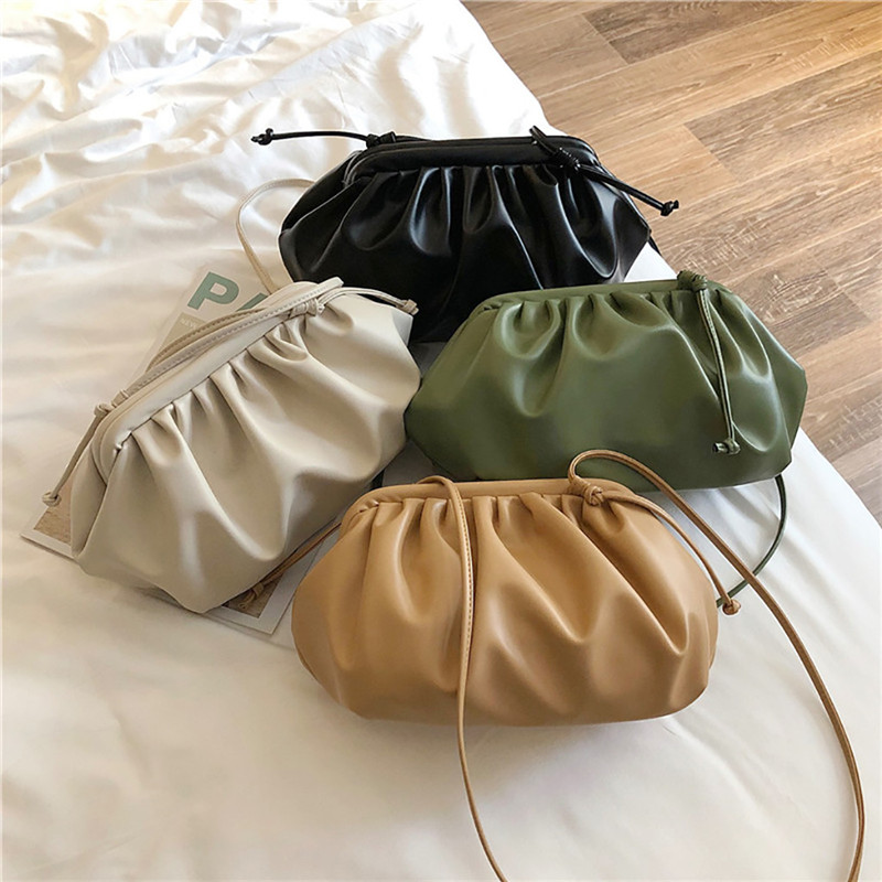 Women Cloud Dumplings Messenger Bag Retro 2019 New Fashion Cloud Shape Female Cross-body Shoulder Bag Handbag Clutch Bag #40