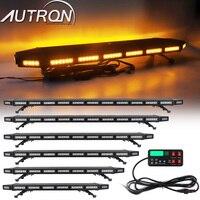 31 50 60 LED Strobe Light Bar Emergency Warning Flashing Amber Beacon Signal For Tow Plow Truck Wrecker Vehicles Black House