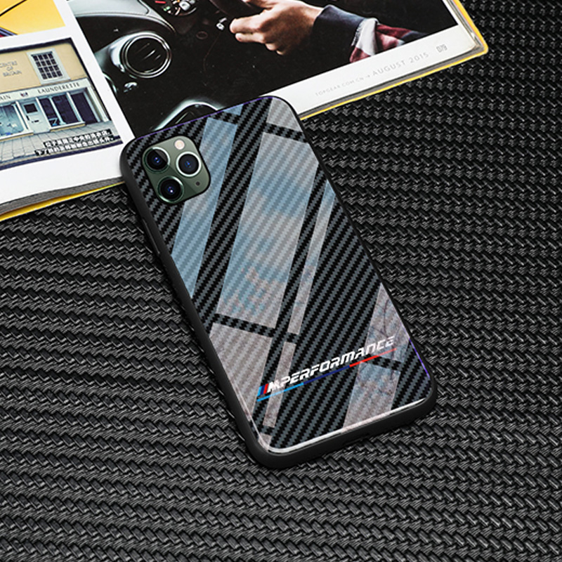 With BMW M Emblem For Iphone 11 12 Pro X XR XS Max 7 6 6S 8 Plus Cases Samsung Galaxy S8 S9 S10 Plus Note 8 9