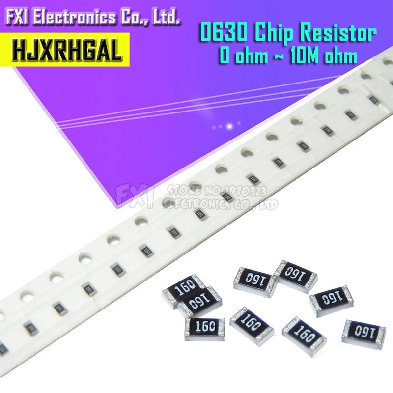 100 шт. 0603 SMD 1/8 Вт Резистор проволочного чипа резисторы 0 Ом ~ 10 м 0R 1K 4,7 K 4K7 10K 100K 1 10 100 220 330 Ом 0R 1R 10R 100R 220R 330R