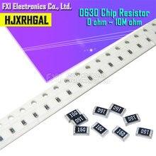 100pcs 0603 SMD 1/0 8W chip resistor resistores ohm ~ 10M 0R 4K7 10 1K 4.7K K 100K 1 10 100 220 330 ohm 0R 1R 10R 100R 220R 330R