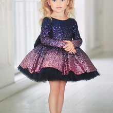 Wedding-Dress Flower Sequins Birthday-Party Girls' Children's Fashion Adult Big Latest