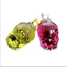 750ML Glass Bottle Statue of Buddha Crystal Water Bottle Wine Glass Cup for Vodka Whiskey Drink Glasses Wedding vasos de vidrio