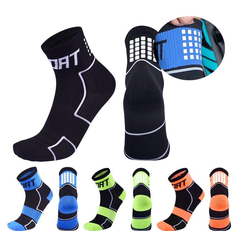 Women Reflective Running Socks Night Cycling Socks Men Breathable Non-slip Sport Sock for Outdoor Basketball Football Bicycle