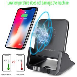 Image 3 - Bezprzewodowa podstawka ładująca Qi USB telefon komórkowy bezprzewodowa ładowarka do Samsung S10 S9 S8 Note10 Xiaomi mi 9 10 iphone 12 11 X XS XR 8