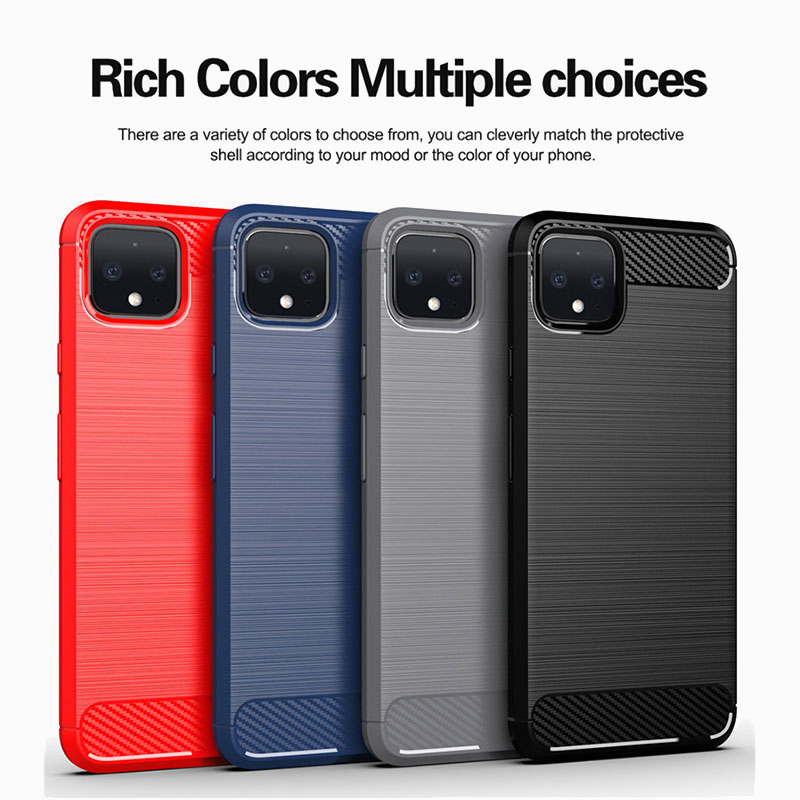 Carbon Fiber Case For Google Pixel 4 3 2 XL 3A Case Pixel 3A XL 2XL 3XL 4XL 2 3 4 XL Cover Soft Silicone Phone Back Cases