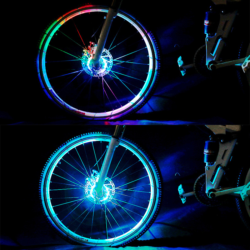 Leadbike Bicycle Hot Wheels Spoke Lights Night Riding USB Rechargeable Bike Lamp