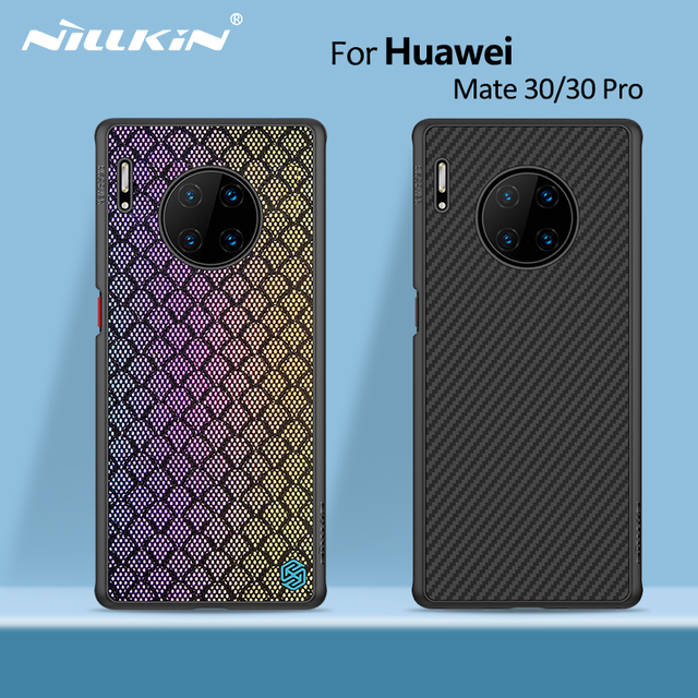 NILLKIN สังเคราะห์คาร์บอนไฟเบอร์กลับและไนลอนสำหรับ HUAWEI Mate 30 กรณี 6.62 บาง Slim สำหรับ HUAWEI Mate 30 Pro กรณี 6.53