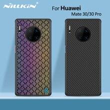 Nillkin fibre synthétique carbone couverture arrière & Nylon pour huawei mate 30 étui 6.62 mince mince pour huawei mate 30 pro étui 6.53