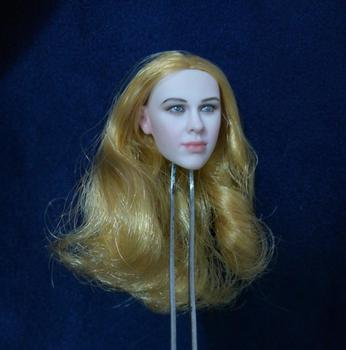 1/6 Curly Blond Hair European Women Head for 12''Figures Pale Bodies Toys Gifts