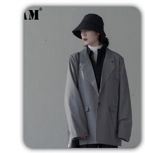 [EAM] 2019 New Winter Hooded Long Sleeve Solid Color Black Cotton-padded Warm Loose Big Size Jacket Women parkas Fashion JD12101 30