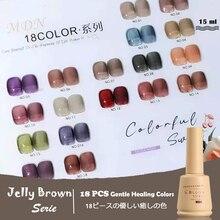15ml Brown Jelly UV Gel Polish Soak Off Transparent  Jelly Nail Gel Polish Long Lasting Nail Art Lacquer Varnish Need Base Coat