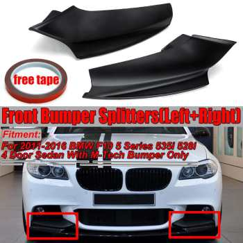 Black Car Front Bumper Splitter Lip Diffuser Spolier Protector Guard For BMW F10 5 Series 535i 528i Sedan M Sport 2011 2012-2016