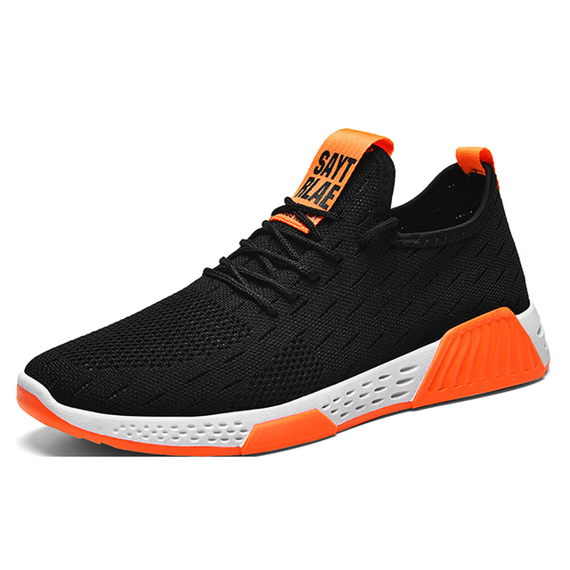 Men Shoes  Mesh  Shallow  Spring/Autumn  Lace Up  Solid  Designer Sneakers Men Off White Shoes Breathable Non slip Running Shoes