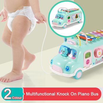 Bus Car Music Instrument Toy For Children From 1-3 Age Kids Education Toddler Development Mobile Educational Toy For Baby 1