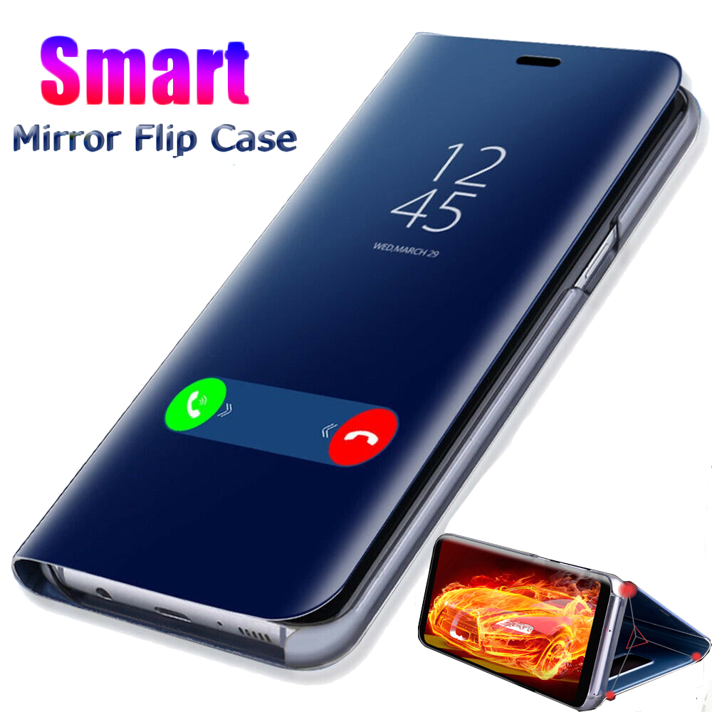 Smart Mirror Flip Phone Case on For Samsung Galaxy A30S A10s A70S A40S A50S A20S A20e 360 Back Cover For Samsun M30S A 30S M 30S image