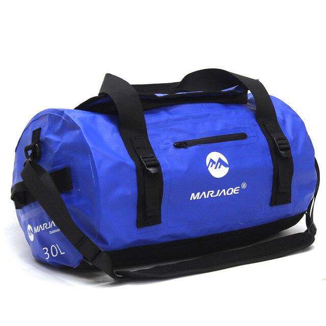 30/60/90L 야외 PVC 방수 가방 드라이 자루 스토리지 가방 카누 보트 카약 강 트레킹 수영 여행 가방 래프팅