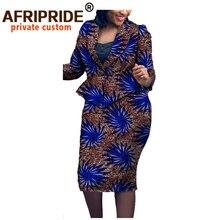Африканские платья для женщин Дашики пальто и юбки с принтом
