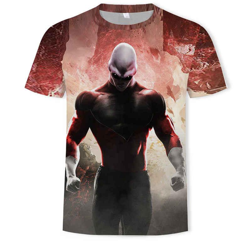 새로운 2019 남자의 3d t-셔츠 드래곤 볼 z 울트라 본능 goku 슈퍼 saiyan 하나님 블루 베지터 인쇄 만화 여름 t-셔츠 크기 5xl