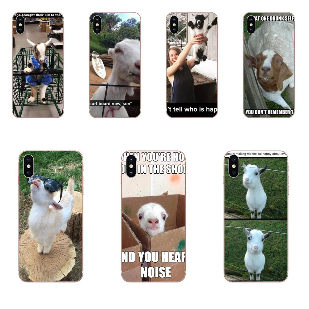 Transparent Cover Case Goat Meme For Galaxy J1 J2 J3 J330 J4 J5 J6 J7 J730 J8 2015 2016 2017 2018 mini Pro image