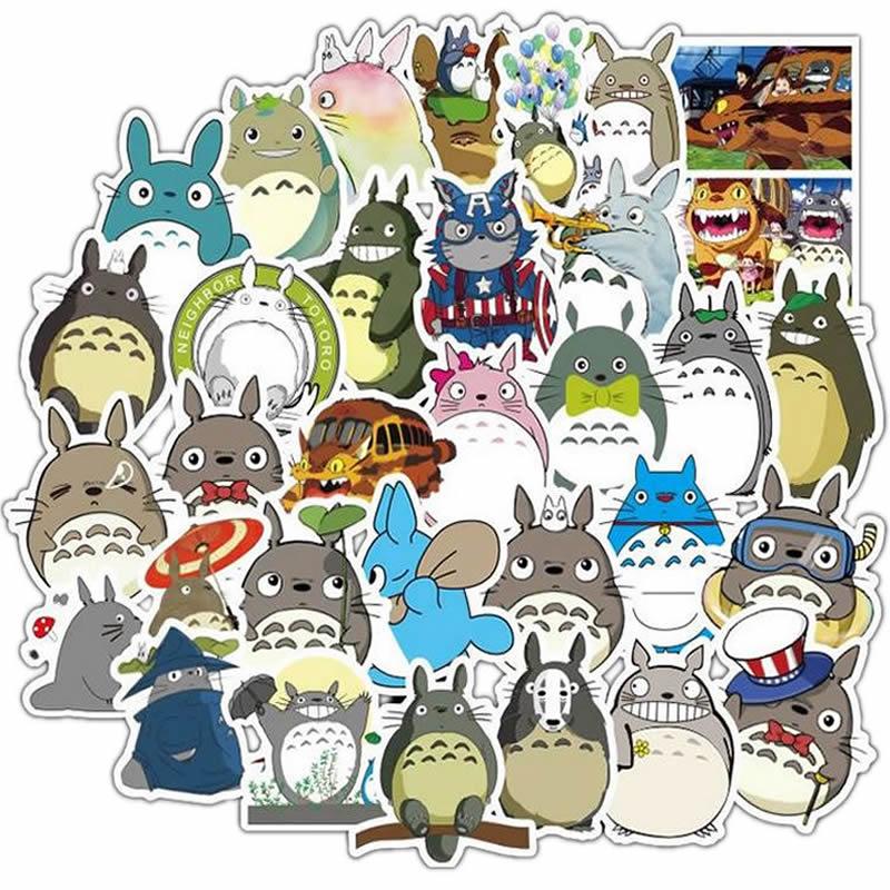 10/30/50pcs Pack Cartoon Anime Totoro Sticker Waterproof PVC Skateboard Luggage Motorcycle Laptop Kids Toys Cool Vsco Stickers