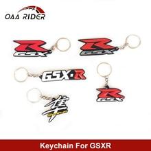 цена на For Suzuki GSX-R GSXR750 GSXR1000 GSXR 600 GSX1300R Motorcycle Keychain Ring 3D Rubber Motorbike Key Ring Key Chain Car Racing