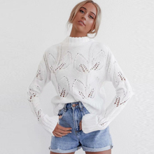 KIYUMI Sweater Women Knitting Solid Pullovers Sweater Hollow Out Long Sleeves O-neck Top Smock 2019 Casual Autumn White Sweaters white cut out long sleeves bodycon crop sweaters