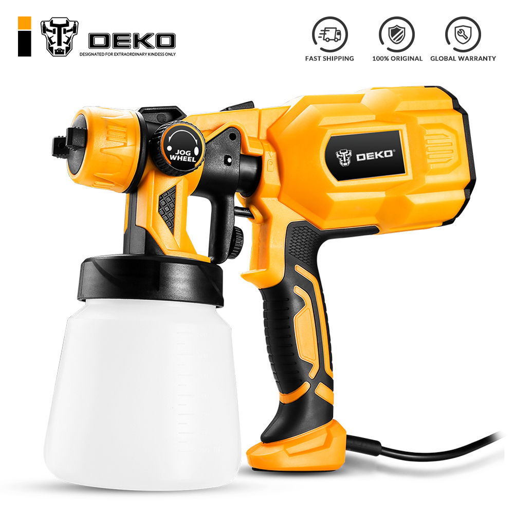 DEKO DKCX01 Spray Gun, 550W 220V High Power Home Electric Paint Sprayer, 3 Nozzle Easy Spraying and Clean Perfect for Beginner adjustable mandoline slicer professional grater