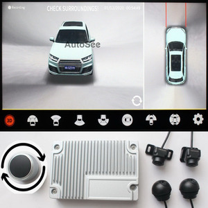 Image 1 - support HDMI, 2021 3D Key Queen Car 360 Camera AVM Panoramic around view parking monitoring video recording DVR knob control