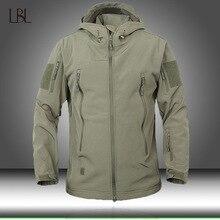 Армейская камуфляжная Мужская куртка, военные тактические куртки, Мужская водонепроницаемая ветрозащитная зеленая куртка с мягкой оболочкой, дождевик, мужская одежда