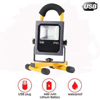 USB Rechargeable Portable Camping Lights Fishing Light Night Lamps Searchlight 360 Degrees Adjustable with Warning Function